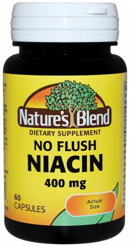 Natures Blend No Flush Niacin Capsules 400mg 60 Count Perspective: front