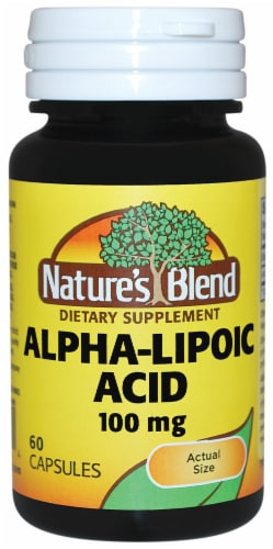 Nature's Blend Alpha Lipoic Acid Capsules 100mg 60 Count Perspective: front