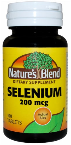 Nature's Blend Selenium Tablets 200mcg Perspective: front