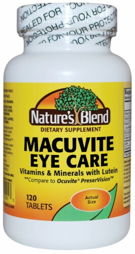 Nature's Blend Macuvite Eye Care Tablets 120 Count Perspective: front