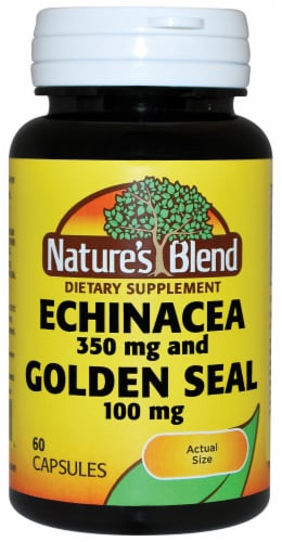 Nature's Blend Echinacea and Golden Seal Capsules 100mg Perspective: front