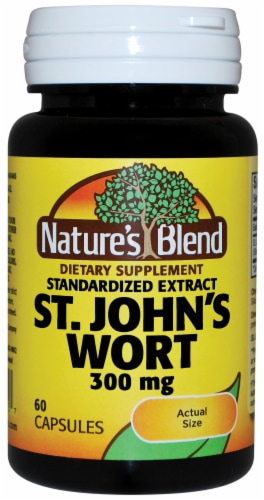 Nature's Blend St. John's Wort Capsules 300mg Perspective: front
