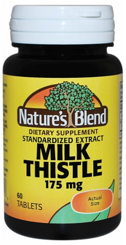 Nature's Blend Milk Thistle Tablets 175mg Perspective: front