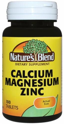 Nature's Blend Calcium Magnesium Zinc Tablets Perspective: front