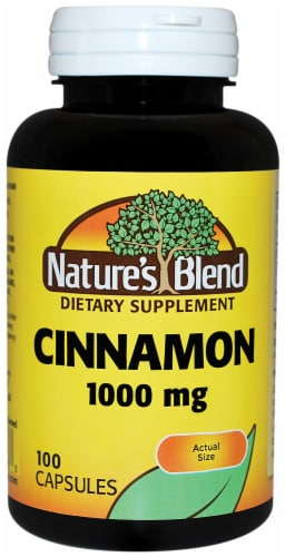 Natures Blend Cinnamon Capsules 1000mg Perspective: front
