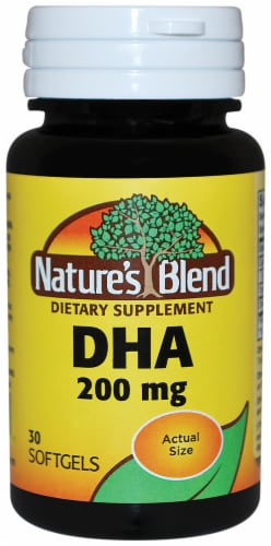 Nature's Blend DHA Softgels 200mg 30 Count Perspective: front