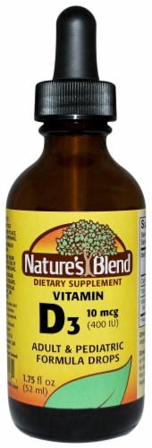 Nature's Blend Vitamin D3 Adult & Pediatric Formula Drops 10mcg Perspective: front