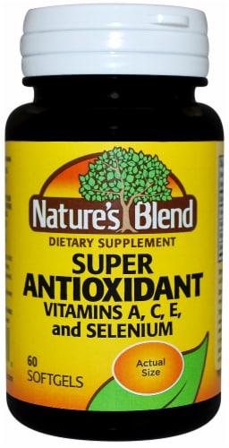 Nature's Blend Antioxidants Vitamins A C & E Capsules Perspective: front