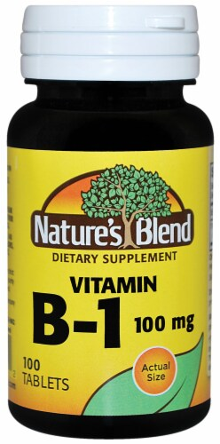 Nature's Blend Vitamin B-1 Tablets 100mg 100 Count Perspective: front