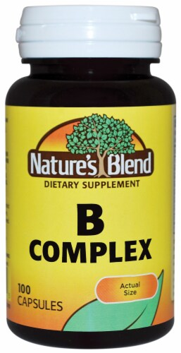 Nature's Blend Vitamin B Complex Capsules 100 Count Perspective: front