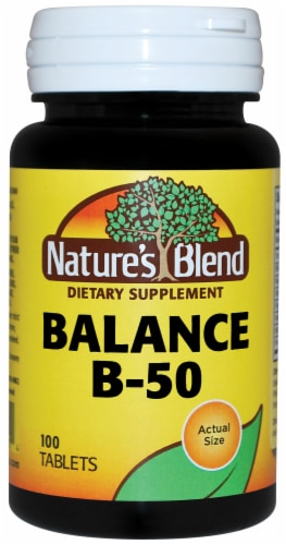 Nature's Blend Balance B-50 Tablets 100 Count Perspective: front