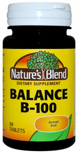Nature's Blend Balance B-100 Tablets 50 Count Perspective: front