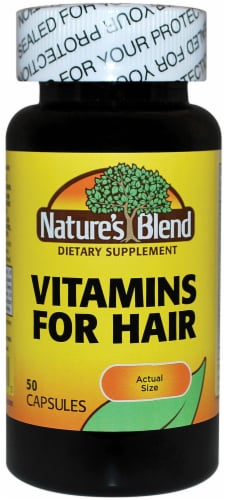 Natures Blend Vitamin For Hair Capsules 50 Count Perspective: front
