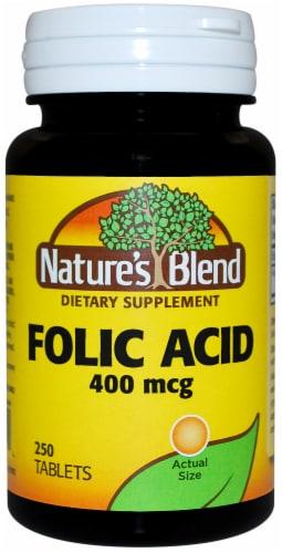Nature's Blend Folic Acid Tablets 400mcg 250 Tablets Perspective: front