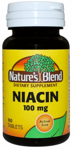 Natures Blend Niacin Tablets 100mg Perspective: front