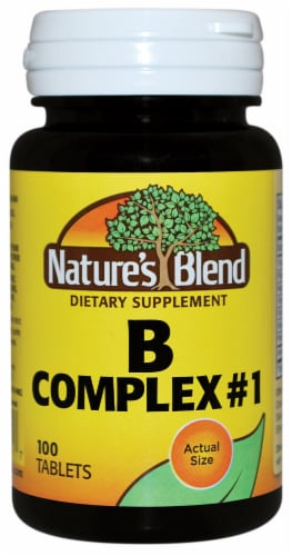 Nature's Blend Complex #1 Tablets 100 Count Perspective: front