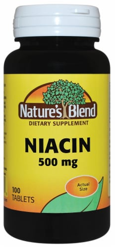 Natures Blend Niacin Tablets 500mg Perspective: front