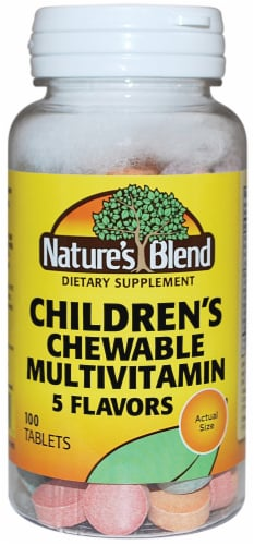Nature's Blend Children's Chewable Multivitamin Tablets 100 Count Perspective: front