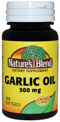 Nature's Blend Garlic Oil Softgels 500mg Perspective: front
