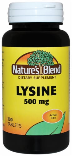 Nature's Blend Lysine Tablets 500mg Perspective: front