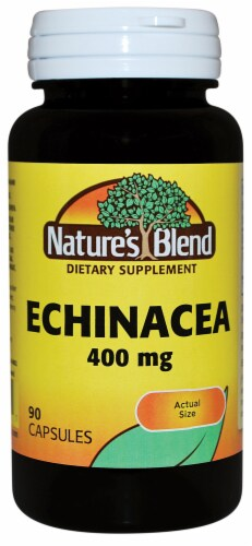 Nature's Blend Echinacea Capsules 400mg Perspective: front