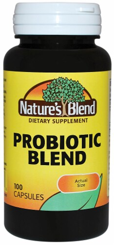 Nature's Blend Probiotic Blend Capsules 100 Count Perspective: front