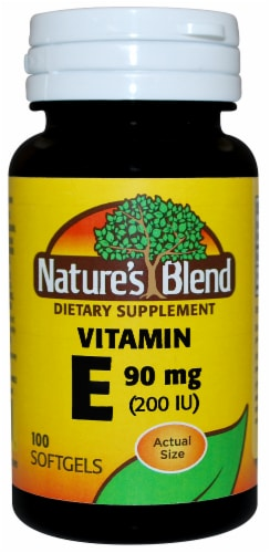 Nature's Blend Vitamin E Softgels 90mg Perspective: front
