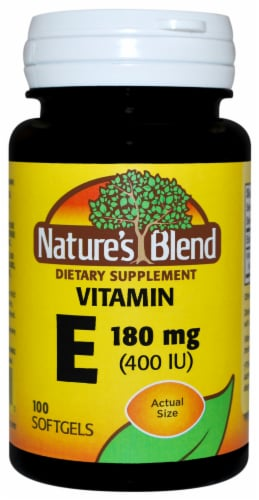 Nature's Blend Vitamin E Softgels 180mg Perspective: front