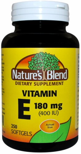 Nature's Blend Vitamin E Softgels 180mg 250 Count Perspective: front