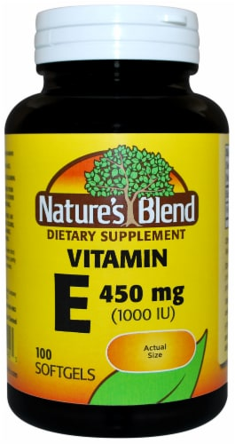 Nature's Blend Vitamin E Softgels 450mg 100 Count Perspective: front