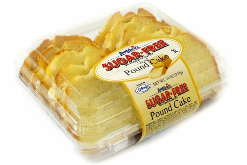 Ann Marie's Sugar-Free Sliced Pound Cake Perspective: front