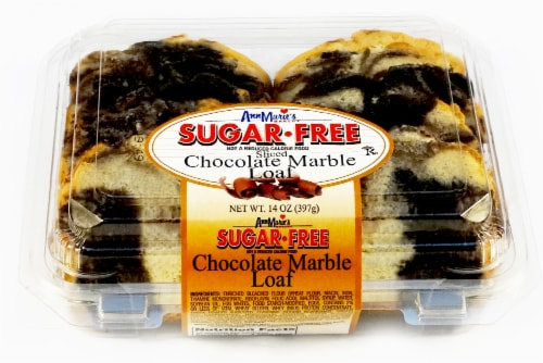 Ann Marie's Sugar Free Sliced Chocolate Marble Loaf Perspective: front