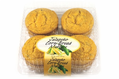 Olson's Baking Company Jalapeno Corn Bread Muffins 4 Count Perspective: front