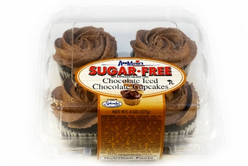 Ann Marie's Sugar Free Chocolate Iced Chocolate Cupcakes Perspective: front