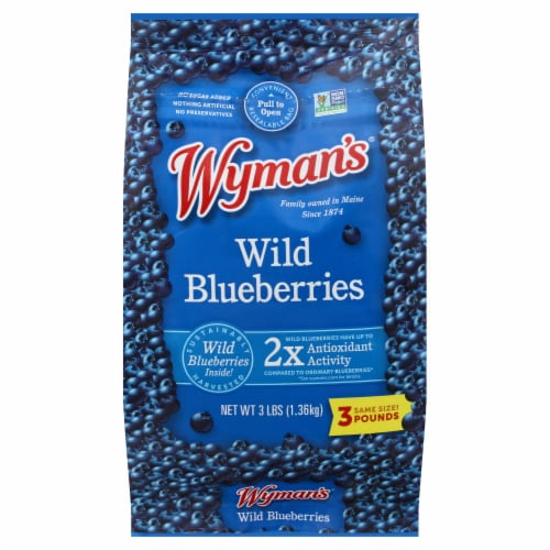 Wyman's Wild Blueberries Perspective: front