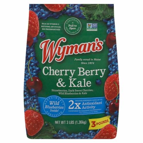 Wyman's Cherry Berry & Kale Mix Frozen Fruit Perspective: front