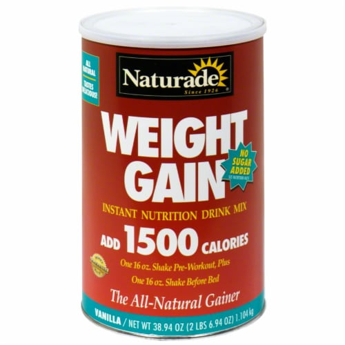 Naturade Weight Gain Instant Nutrition Drink Mix Perspective: front