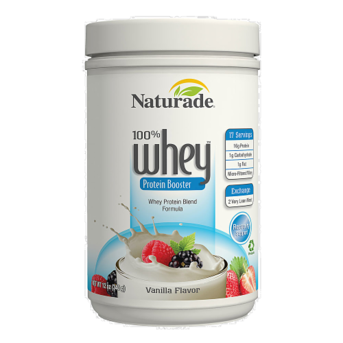 Naturade 100 Percent Whey Protein Booster Vanilla Perspective: front