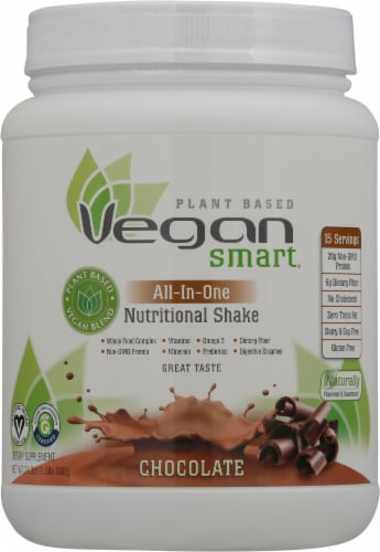 Naturade Vegan Smart All-in-One Chocolate Nutritional Shake Perspective: front
