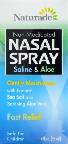 Naturade Non Medicated Nasal Spray Saline And Aloe Gently Moistu Perspective: front