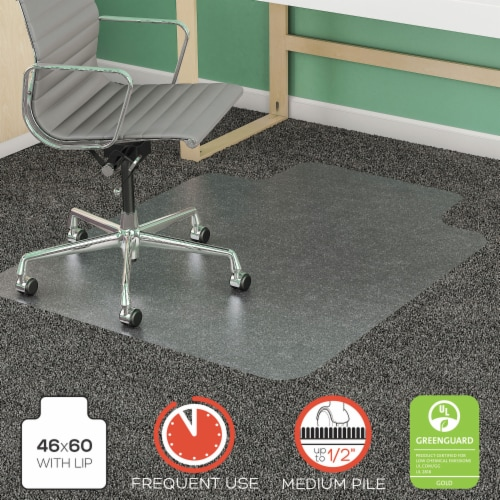 Deflecto DEFCM14432F 46 x 60 - 25 x 12 in. Staples SuperMat Frequent Use Chair Mat, Rectangle Perspective: front