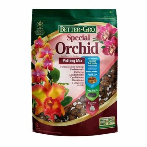Sun Bulb Better-Gro Special Orchid Flower Potting Mix Garden Soil, 8 Quarts Perspective: front