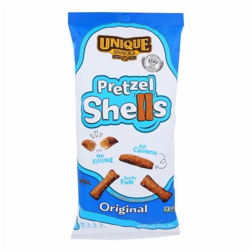 Unique Pretzels - Pretzel Shells - Original - Case of 12 - 10 oz. Perspective: front