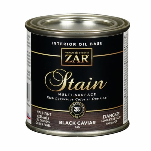 ZAR  Semi-Transparent  Black Caviar  Oil-Based  Wood Stain  8 oz. - Case Of: 6; Perspective: front