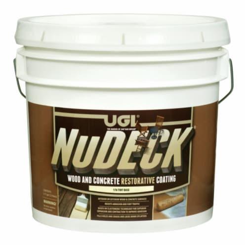 UGL  NuDECK  Flat  Dark Tint Base  Deep Tone Base  Floor and Patio Coating  3.5 gal. - Case Perspective: front