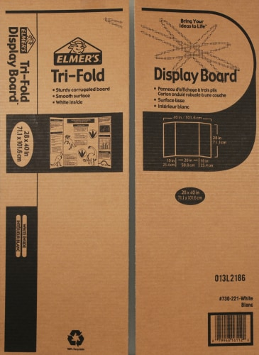 Elmer's Tri-Fold Project Display Board Perspective: front