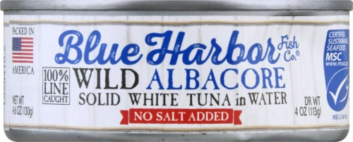 Blue Harbor Wild Albacore Solid White Tuna in Water Perspective: front