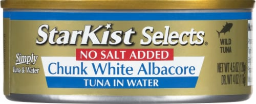 StarKist No Salt Added Chunk White Albacore Tuna in Water Perspective: front