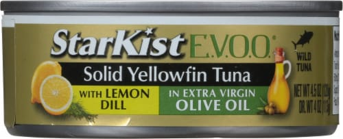 StarKist Selects Solid Yellowfin Tuna with Lemon Dill and Extra Virgin Olive Oil Perspective: front