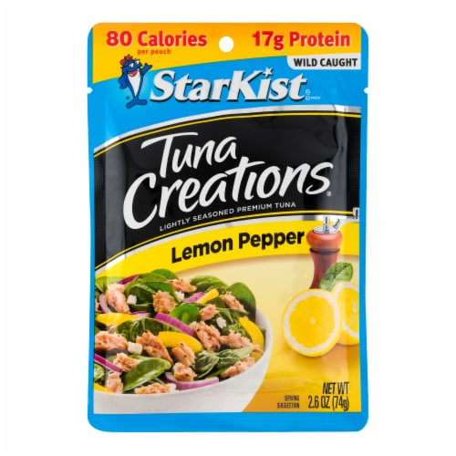 StarKist Tuna Creations Lemon Pepper Seasoned Tuna Perspective: front